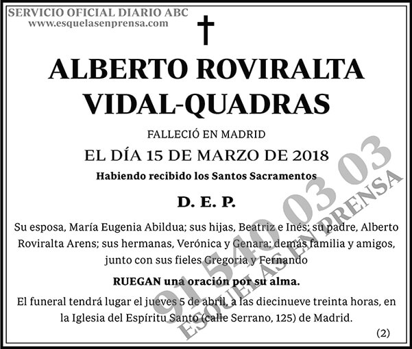 Alberto Roviralta Vidal-Quadras